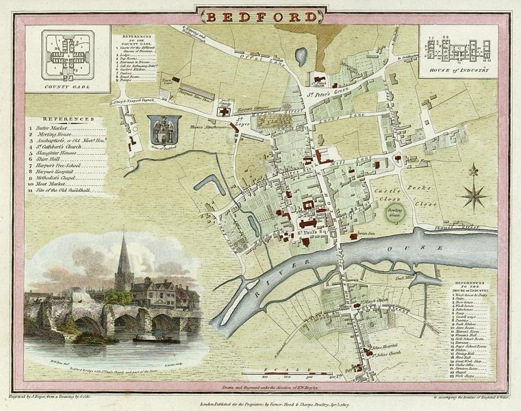Bedford engraved by J.Roper after G.Cole published 1806