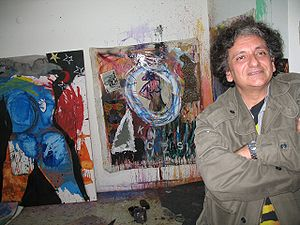 Bedri Baykam - Bedri Baykam at his atelier