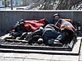 Beggars rest near Russian State Library and Moscow Kremlin (2011-03-29).JPG
