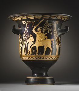 Bell-Krater with (A) the Centaur Chiron Accompanied by a Satyr and (B) Two Youths LACMA 50.8.40 (1 of 2).jpg