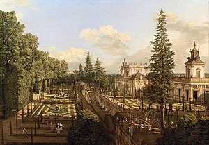 Wilanów Palace - Wilanów Palace as seen from north-east by Bernardo Bellotto (1777).