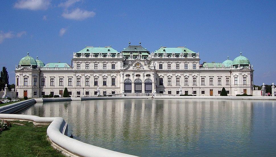 Belveder - widok od frontu - Vienna