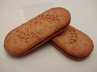 Belvita - Two Belvita sandwich biscuits