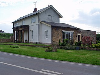 Hull–Scarborough line - Porticoed station building at Bempton (2008)
