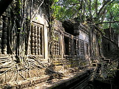 Walls and windows at Beng Mealea