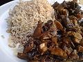 Berenjena y champiñones con arroz basmati (4789646685).jpg