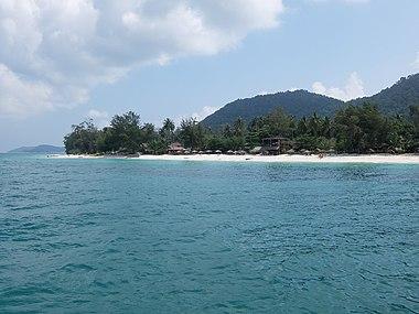 Coastal area of Besar Island