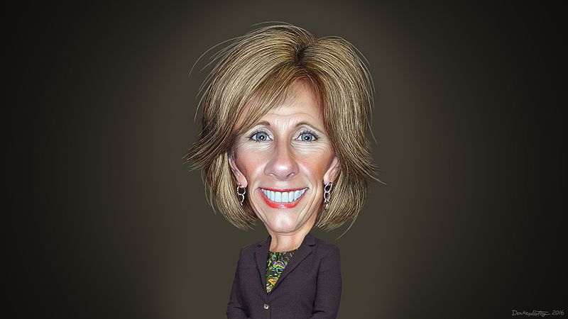 File:Betsy DeVos - Caricature (31382773543).jpg