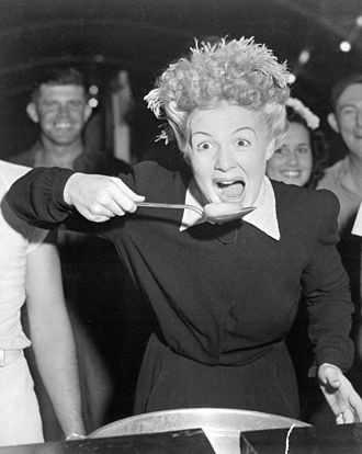 Betty Hutton - With American sailors and marines in the Marshall Islands in December 1944