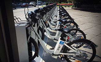 Cycling in Madrid - BiciMAD electric bicycles.