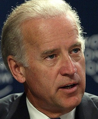 Joe Biden at the World Economic Forum in Jordan in 2003 Biden at economic forum 2003 crop.jpg