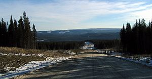 Alberta Highway 734 - Highway 734 through the Foothills, southbound, north of Nordegg