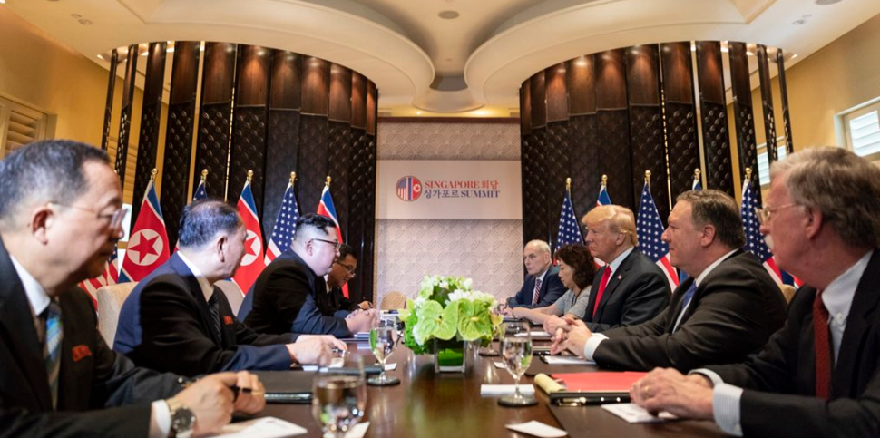 Bilateral meeting with respective delegations during the DPRK–USA Singapore Summit (2)