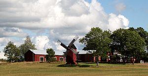 Windmühle in Björsby, Gemeinde Jomala