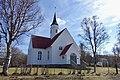 Bjarkøy kirke (church Sandsøya 1776 rebuild Bjarkøya 1886) springtime naked birch trees eyc Bjarkøya Harstad Norway 2019-05-09 DSC00656.jpg