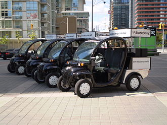 U2 360° Tour - Cars with the Blackberry and U2 branding in front of Rogers Centre in Toronto.
