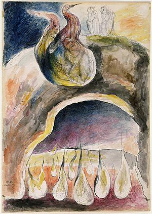 Ulysses (poem) - Image: Blake Dante Hell XXVI Ulisses