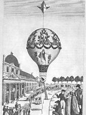 Ascent from the Champ de Mars, 24 June 1810 (Source: Wikimedia)