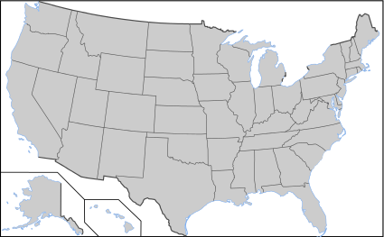 Blank US Map with borders.svg