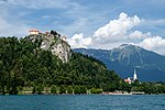 Bled from the lake (29390154928).jpg