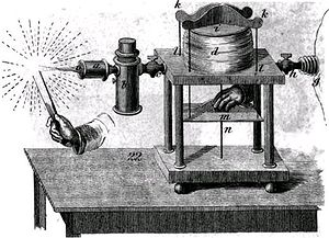 Oxyhydrogen - Nineteenth-century bellows-operated oxy-hydrogen blowpipe, including two different types of flashback arrestor
