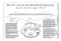 Bluff Dale Suspension Bridge, Spanning Paluxy River at County Route 149, Bluff Dale, Erath County, TX HAER TX,72-BLUDA,1- (sheet 1 of 5).png