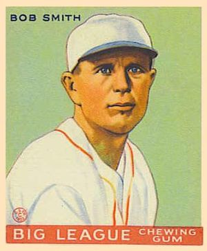 Bob Smith (pitcher, born 1895) - Image: Bob Smith Goudeycard