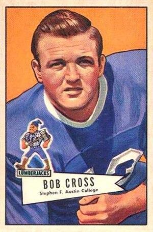 Bobby Cross - Cross on a 1952 Bowman football card