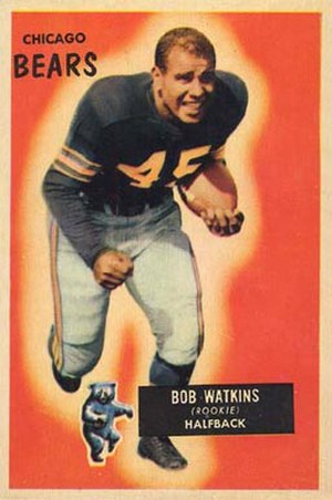 Bobby Watkins (running back) - Watkins on a 1955 Bowman football card