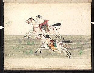 Myin-pyaing. Horse race (II)