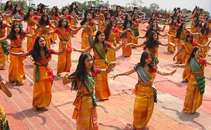 Bodo people - Bagurumba, the traditional Bodo dance