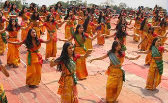 Bagurumba - Bodo girls dancing the Bagurumba dance