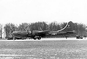 Schilling Air Force Base - Boeing YB-29-BW Superfortress 41-36957, used for training at Smoky Hill AAF in 1943