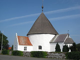 Ny Kirke Church in Nyker, Danish island of Bornholm