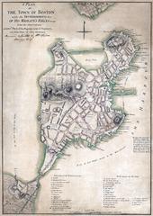 Карта Бостона 1775 года