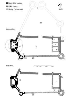 Bothwell Castle - Plan of Bothwell Castle