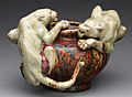 Dalpayrat bowl with panthers
