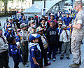 Boy Scouts of America PT and talk with members of the sea services during Fleet Week New York 2015 150523-N-CD297-083.jpg