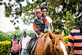 Boy and Girl riding a hoarse in Kabwe.jpg