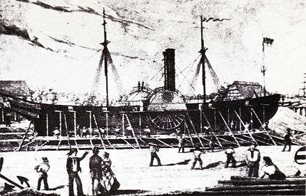 The steamer Archduke John of the Imperial Fleet