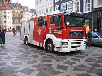 Copenhagen Fire Department - A Copenhagen fire engine
