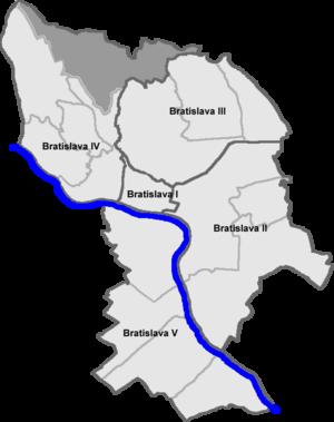 Záhorská Bystrica - Location of Záhorská Bystrica in Bratislava