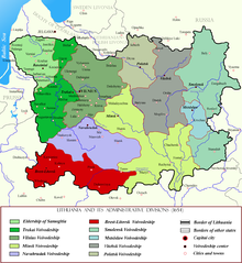 Brest-Litovsk Voivodeship within Lithuania in the 17th century.png