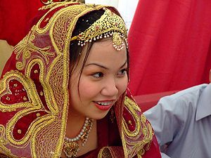 Wife - A young bride at her Nikah.