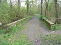 Bridge over Beck at Woodhall Lake - Woodhall Lane - geograph.org.uk - 789227.jpg