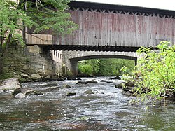 Bridges over the Contoocook River in Contoocook, New Hampshire.jpg