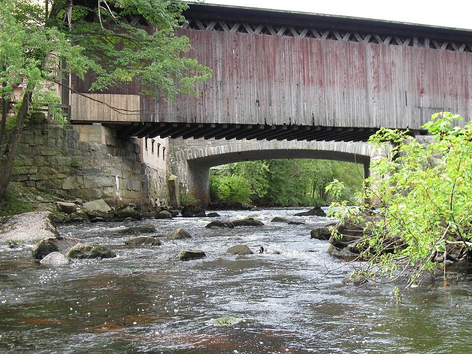 Bridges over the Contoocook River in Contoocook, New Hampshire