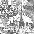 Brno, Tuřany, starý kostel P. Marie v roce 1658.jpg
