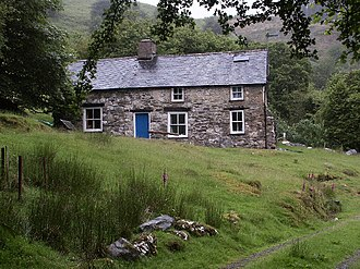 Led Zeppelin - Bron-Yr-Aur, near Machynlleth, the Welsh cottage to which Page and Plant retired in 1970 to write many of the tracks that appeared on the band's third and fourth albums