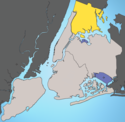 Location map of Bronx.